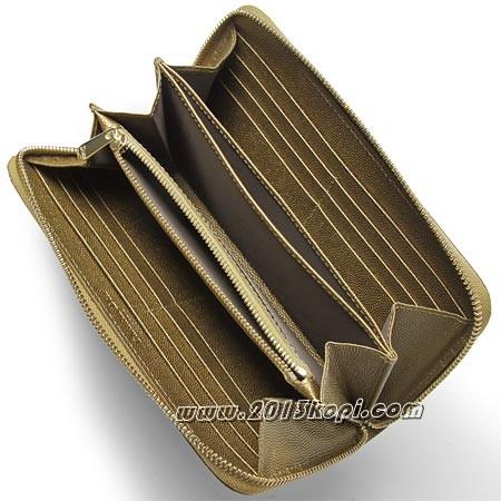 クリスチャンディオールs0047ogcs 791u 長財布 小銭入れ付き タイムレス ブロンズ  レディース