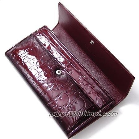 クリスチャン・ディオール s0016peml 333トロッター柄 長財布 レディース ワインレッド