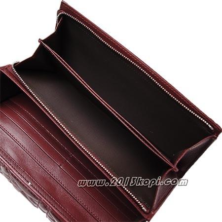 クリスチャンディオール vrb43060p m382u チェーンストラップ付き 長財布 小銭入れ付き レディディオール ワインレッド レディース