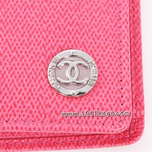 シャネル A50144クルーズライン CCボタン 長財布 フューシャピンク