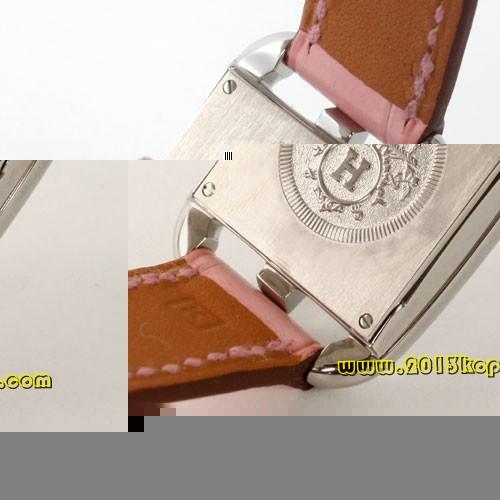 エルメス ケープコッド アリゲーターレザー ピンク/ホワイトシェル レディース CC1.210.213/MRP