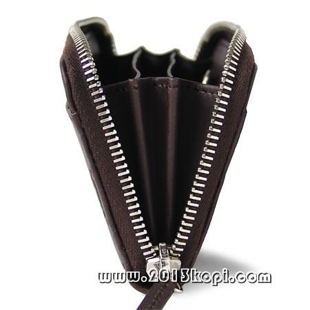 グッチ グッチッシマレザー ラウンドファスナー コインケース レディース ダークブラウン SA6565