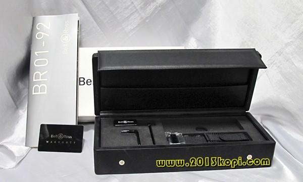 ベル&ロス ブラック/レッド アラビア メンズ BR01-92S-RED