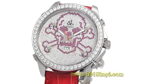 ジェイコブ ブランドコピー 新品 メンズ JC-SKULLD RED