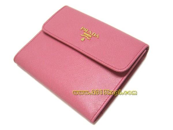 プラダ 財布 三つ折り 1M0170 サッフィアノ メタル ベゴニア(ピンク)