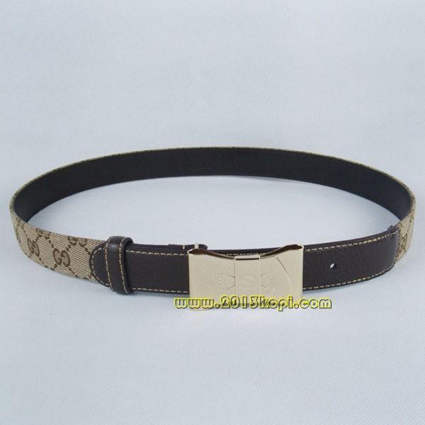 GUCCIグッチスーパーコピー GGキャンバス  ゴールド金具 belt-47