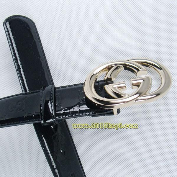 GUCCIグッチスーパーコピー GG型押し エナメル ゴールド金具 belt-38