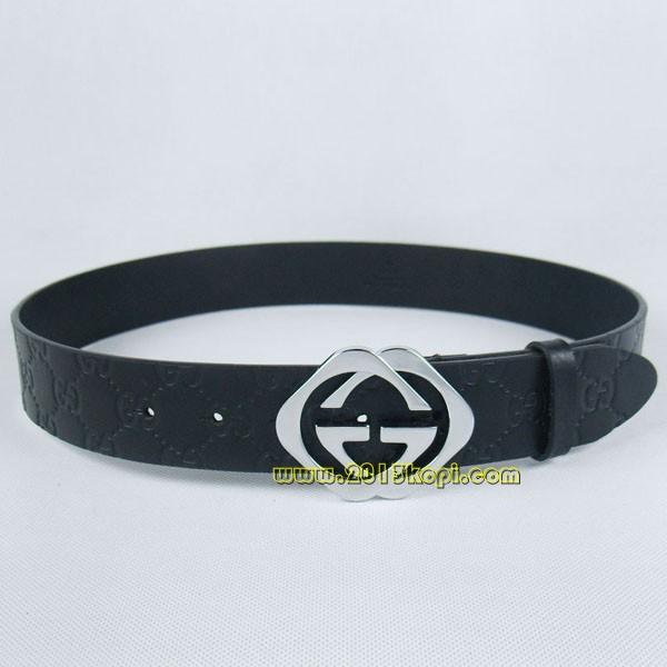 GUCCIグッチスーパーコピー GG型押し エナメル シルバー金具 belt-34