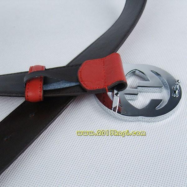 GUCCIグッチスーパーコピー GG型押し エナメル シルバー金具 belt-30
